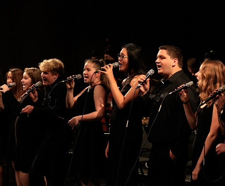 Vocal Jazz Ensemble performance, Dec. 2017