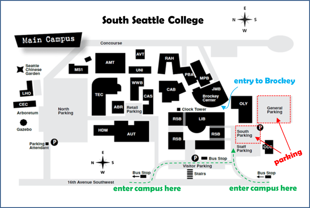 South Seattle College Campus map